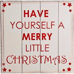 Christmas Decoration - Wooden Wall Art Have Yourself a Merry Little Christmas