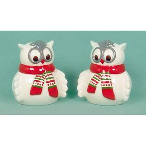 Christmas Tableware - Salt & Pepper Pots Festive Owls