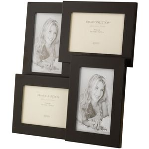 "Kenro Rocco Collection Multi Photo Frame Holds 4 Photos 6"" x 4"" - Black"