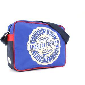 American Freshman Oakland Messenger Bag - Cobalt Blue & Red