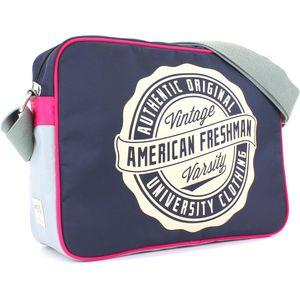 American Freshman Oakland Messenger Bag - Navy & Pink