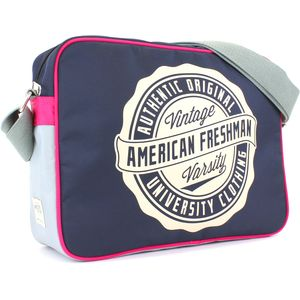 Oakland Messenger Bag Navy & Pink