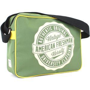American Freshman Oakland Messenger Bag - Green & Yellow