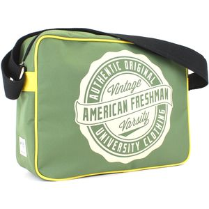 Oakland Messenger bag Green & Yellow