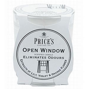Prices Candles Open window Candle in jar