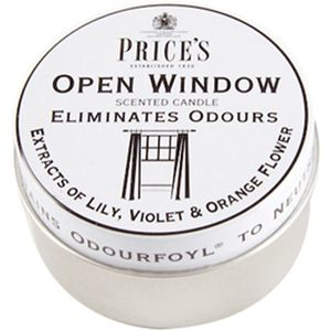 Prices Candles Open Window Candle in Tin