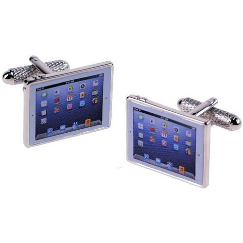 Gents Black Moustache Novelty cufflinks