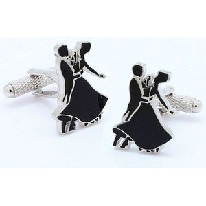 Ballroom Dancer Silhouette Novelty Cufflinks