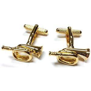 Bugle Cufflinks - Gilt Finish