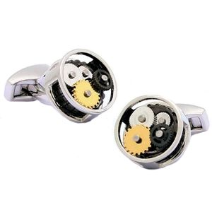 Steampunk Novelty Cufflinks - Silver Finish