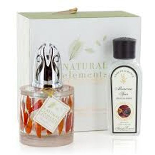 Ashleigh & Burwood Fragrance Lamp Set: Natural Elements Collection Red Hot Chillies with Moroccan Sp
