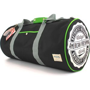 Oakland Barrel Bag Black & Green