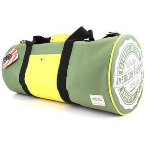 American Freshman Oakland Barrel Bag - Green & Yellow