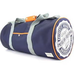 Oakland Barrel Bag Navy & Orange