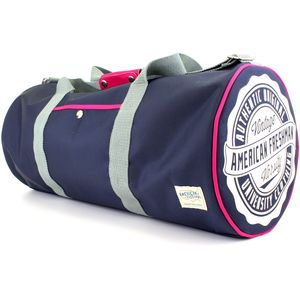 Oakland Barrel Bag Navy & Pink