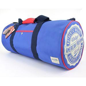 American Freshman Oakland Barrel Bag - Cobalt & Red