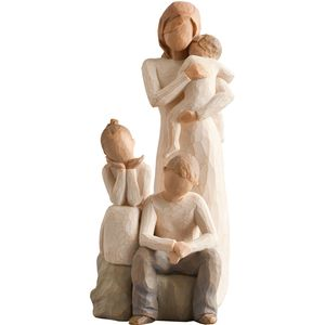 Willow Tree Figurines Set Mother with Three Children