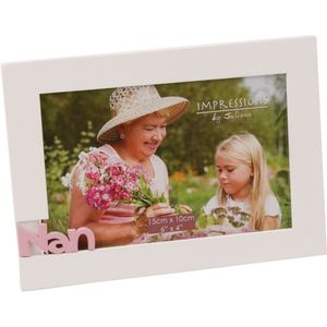 "Juliana Impressions White Photo Frame 6"" x 4"" - Nan"