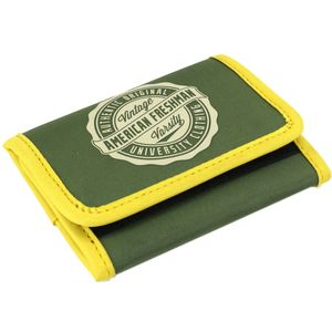 Oakland Trifold Wallet in Green & Yellow