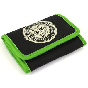Oakland Trifold Wallet in Black & Green
