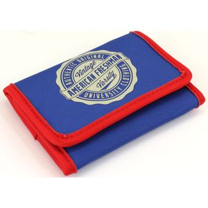 Oakland Trifold Wallet in Cobalt & Red
