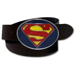 Superhero Logo PU Leather Belt Superman (Red & Yellow)