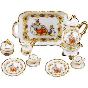 Beatrix Potter Porcelain Dolls House Coffee Set