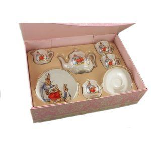 Reutter Porcelain Beatrix Potter Peter Rabbit Tea for 2 Set Gift Boxed