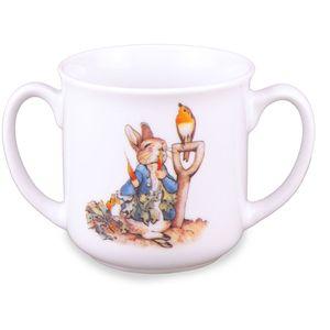 Reutter Porcelain Beatrix Potter Peter Rabbit Baby Double Handle Mug
