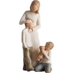 Willow Tree Figurines Set Mother with Two Sons