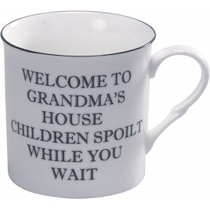 Heath McCabe Fine China Text Mug - Welcome To Grandmas House