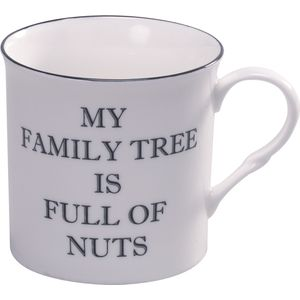 Heath McCabe Fine China Text Mug - My Family Tree is Full of Nuts