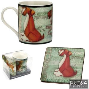 My Pedigree Pals Boxer Dog Mug & Coaster Set