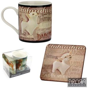My Pedigree pals Chihuahua Dog Mug & Coaster Set