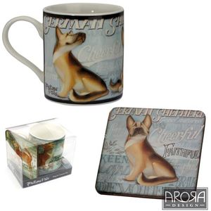 My Pedigree Pals German Shepherd Dog Mug & Coaster Set