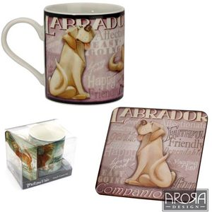 My Pedigree Pals Yellow Labrador Dog Mug & Coaster Set