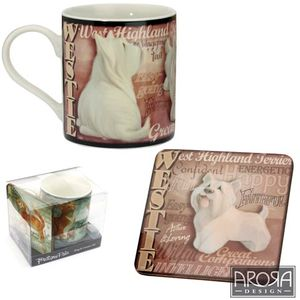 My Pedigree Pals Westie Dog Mug & Coaster Set