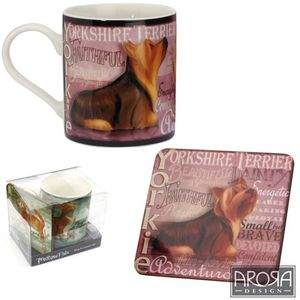 My Pedigree Pals Yorkie Dog Mug & Coaster Set