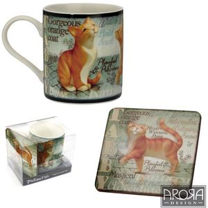 My Pedigree Pals Tabby Cat Mug & Coaster Set