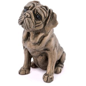 Rocky - Pug Dog Bronze Figurine