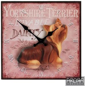 My Pedigree Pals Yorkie Dog Wall Clock