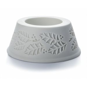 De Greef Pillar Candle Holder - Christmas Holly Design