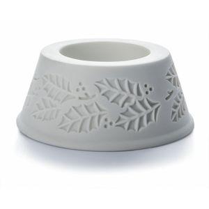 Pillar candle Holder - Xmas Holly design