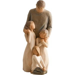 Willow Tree Figurines Set Father with Three Daughters