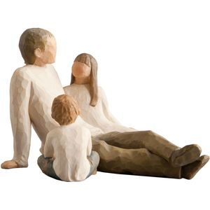 Willow Tree Figurines Set Father with Son & Daughter