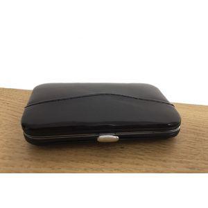 Black faux Suede 6 Piece Manicure set