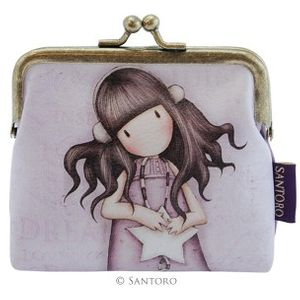 """Gorjuss 4"""" Clasp Purse - All These Words"""