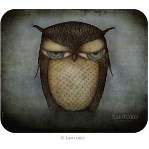 Santoro Gorjuss Mouse Mat - Grumpy Owl