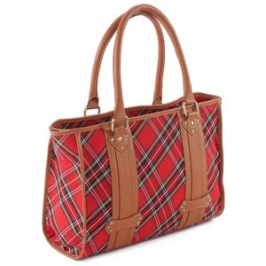 Pell Mell Shopper Bag Red Stewart Tartan