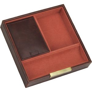Mens Brown & Orange Valet sq Stacker